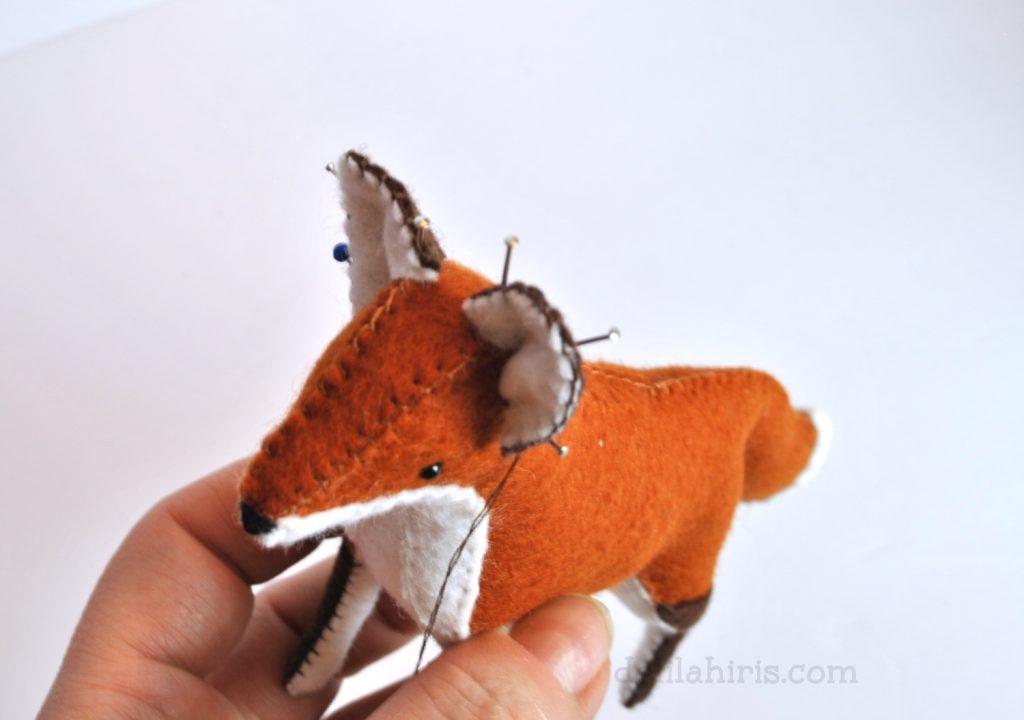 diy fox sewing tutorial felt animal